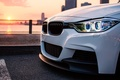 Картинка солнце, свет, город, BMW, white, series, F30, 335I