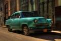 Картинка Гавана, автомобиль, ретро, Куба, улица