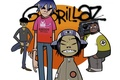 Картинка нудл, мёрдок, Russel, группа, гориллаз, gorillaz, murdoc, noodle, музыка, рассел, графити