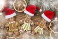 Картинка merry christmas, пряники, Счастливого Рождества, Gingerbread, печенье, Нового года, new year, hat food, cookies, шляпа ...
