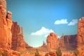 Картинка пейзаж, камни, скалы, каньон, кактусы