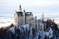 Картинка зима, снег, Замок, Бавария