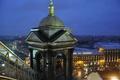 Картинка мокро, небо, асфальт, ночь, тучи, city, город, дождь, крыши, панорама, собор, отель, россия, wet, питер, ...