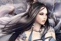 Картинка Девушка, воин, ветер, зима, фентези