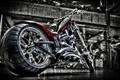 Картинка мотоцикл, хром, bike, кастом, custom, harley