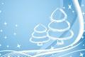 Картинка Новый год, синий, линии, елка