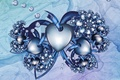 Картинка линии, абстракция, шары, сердца, арт, сердечки, art, abstraktsiya