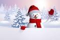 Картинка снеговик, cute, snowman, snow, happy, winter