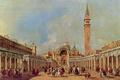 Картинка люди, картина, площадь, день, венеция, италия, francesco guardi, франческо гварди, сан марко