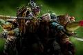 Картинка оружие, зеленый, фон, Leonardo, маски, Donatello, Черепашки-ниндзя, дым, Raphael, Teenage Mutant Ninja Turtles, Michelangelo, фантастика