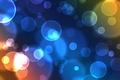 Картинка Bubbles, кружки, свечение, окружности, blue
