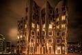 Картинка Dusseldorf, ночь, Germany, здание, Германия, сепия