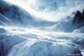 Картинка A dreamy world, горы, снег