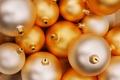Картинка золотистый, праздник, новый год, шарики