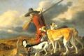 Картинка Охотник, Adriaen Cornelisz Beeldemaker, картина, собаки, жанровая