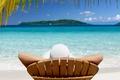 Картинка Остров, отпуск, шезлонг, тропики