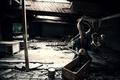 Картинка Монстр, комната, свет, разруха