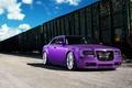 Картинка wheels, frontside, 300, Chrysler, purple, vossen