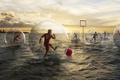 Картинка Роман лорен, romain laurent, креатив, футбол, вода, море