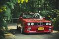 Картинка red, бмв, tuning, перед, красная, BMW, e30