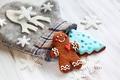 Картинка Новый Год, печенье, Рождество, Christmas, New Year, decoration, пряники, gingerbread, cookie, варежка
