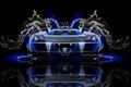 Картинка Вода, Черный, Синий, Lamborghini, Неон, Стиль, Обои, Фон, Car, Blue, Photoshop, Фотошоп, Black, Water, Style, ...