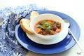 Картинка миска, мясо, овощи, суп, хлеб