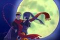 Картинка naruto, Naruto The Movie the Last, Hinata Hyugo, art, луна, red scarf, ночь, Uzumaki Naruto