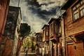Картинка Обработка, Улица, Стамбул, Турция, Street, Istanbul, Turkey, Old house, Старый дом