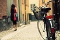 Картинка велосипед, город, улица, bicycle, photography, bike, woman, street