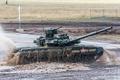 Картинка полигон, бронетехника, Т-90, танк