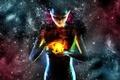 Картинка видение, варлок, взгляд, обьект, магия, держит, арт, инопланетянка, шар, девушка, чары, колдовство, космос, пространство, модель, ...