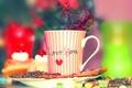 Картинка кофе, чашка, I Love You