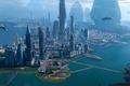 Картинка панорама, мегаполис, будущее, здание, город