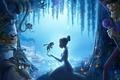 Картинка Сказка, чудо, мультфильм, принцесса, лягушка, ночь, река