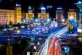 Картинка ночь, Украина, night, Киев, Ukraine, Kiev, площадь Независимости