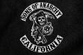 Картинка смерть, Сыны анархии, череп, Логотип, Sons of Anarchy, коса