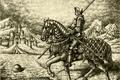 Картинка средневековье, Дюрер, Parsadanov, крепость, рисунок, всадник, Рыцарь, доспехи, конь, графика