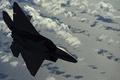 Картинка истребитель, облака, скорость