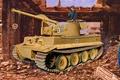 Картинка tank, armored vehicule, ww2, painting, Bergetiger, war, art