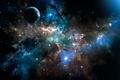 Картинка небо, планета, звезды, космос