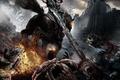 Картинка конь, всадник, Darksiders, огонь