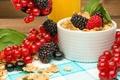 Картинка ягоды, завтрак, fresh, хлопья, berries, breakfast, мюсли