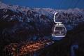 Картинка gondola, фуникулер, горы, SnowBound, Telluride Ski Resort, город, огни, вечер