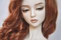 Картинка игрушка, лицо, кукла, рыжая, шея