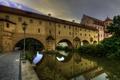 Картинка мост, дом, Германия, фонарь, канал, арка, речка, Amberg