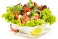 Картинка овощной салат, зеленый салат, зелень, овощи