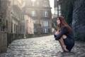 Картинка улица, мостовая, девушка, Marion Limerat