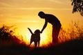 Картинка собака, Парень, свет, друг, природа