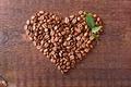 Картинка любовь, кофе, зерна, сердце
